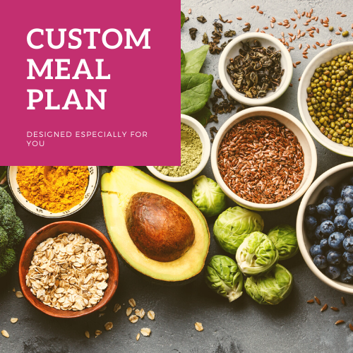custom meal plan products page